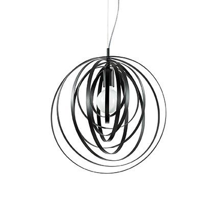 sospensione disco nera ideal lux
