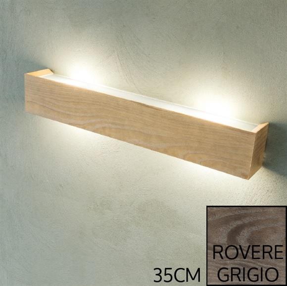 applique madera rovere grigio 35 cm