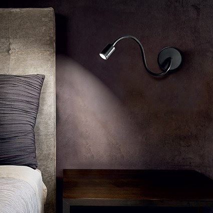 focus applique nera ideal lux