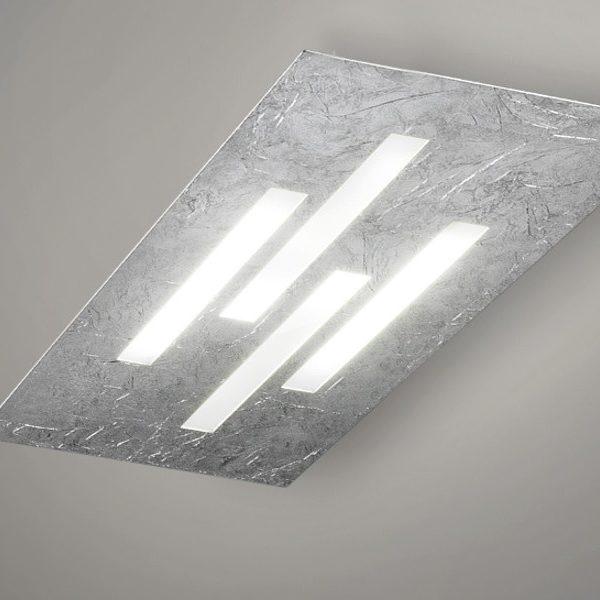 Plafoniera Gamma LED Foglia Argento