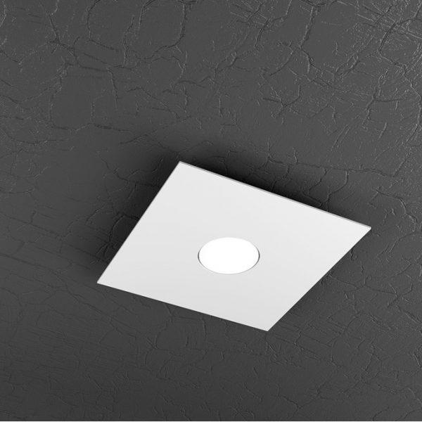 plafone 1 luce plate top light