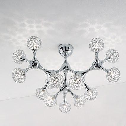 plafone nodi crystal ideal lux grande pl15