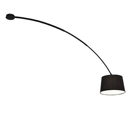 plafoniera dorsale nera ideal lux