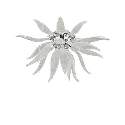 plafoniera leaves trasparente ideal