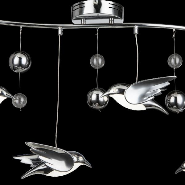 bird 4 luci silver globo