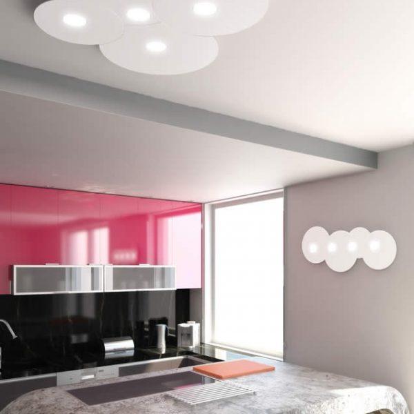 plafoniera cloud 5 luci top light