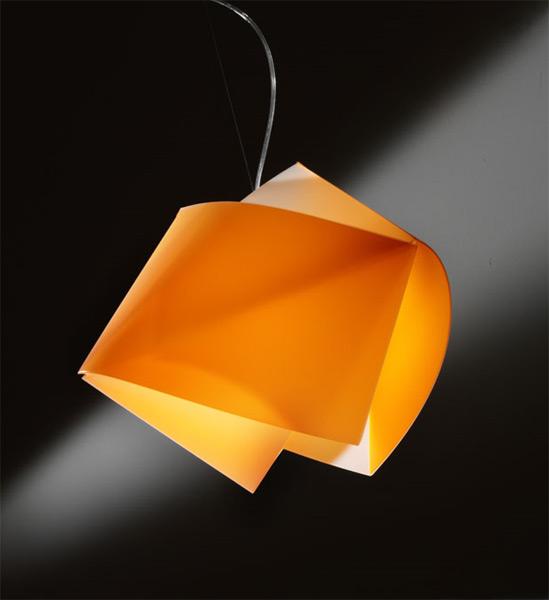 Sospensione gemmy arancione slamp free light for Slamp lampadari