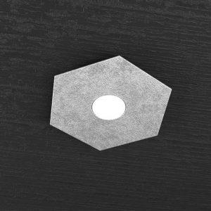 exagon singolo foglia argento