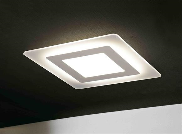 Plafoniere Quadrata : Plafoniera oblio led quadrata °k exclusive light promo