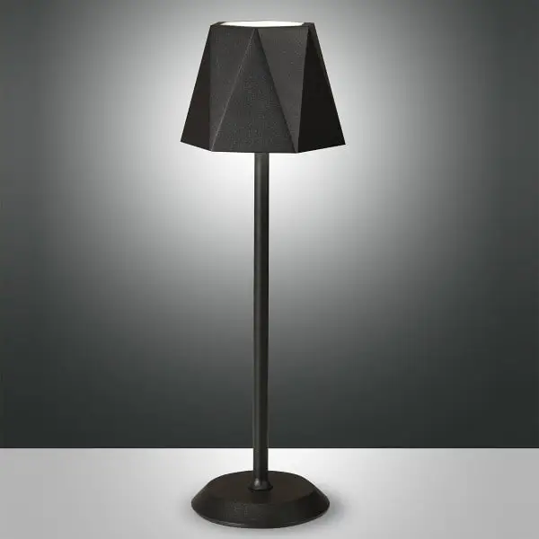 lampada da tavolo KATY nera FABAS